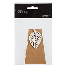 Buy John Lewis Wood Leaf Gift Tag Online at johnlewis.com