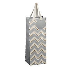 Buy John Lewis Metallic Chevron Gift Bag, Bottle Online at johnlewis.com