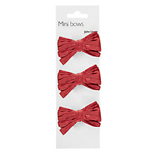 Buy John Lewis Red Raffia Bows, 3 Pack Online at johnlewis.com