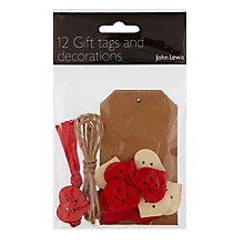 Buy John Lewis Make Your Own Gift Tags, 12 Pack Online at johnlewis.com