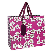 Buy John Lewis Oriental Blossom Flower Gift Bag, Purple, Medium Online at johnlewis.com