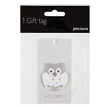 Buy John Lewis Owl Tag Online at johnlewis.com