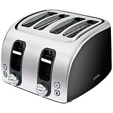 Buy AEG AT7104B-U 4-Slice Toaster, Gloss Black Online at johnlewis.com