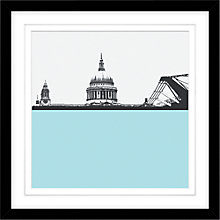 Buy Jacky Al-Samarraie St Pauls Cathedral and Millennium Bridge Framed Print,  54 x 54cm Online at johnlewis.com