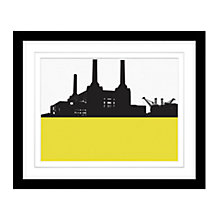 Buy Jacky Al-Samarraie - Battersea Power Station Framed Print, 45 x 54cm Online at johnlewis.com