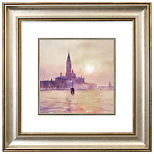 Buy Stan Kaminski - San Giorgio Sunset Framed Print, 53 x 53cm Online at johnlewis.com