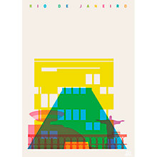 Buy House by John Lewis, Yoni Alter - Rio De Janeiro Unframed Print, 40 x 30cm Online at johnlewis.com
