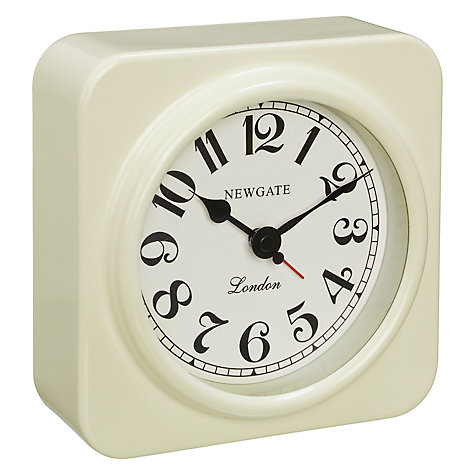 Buy Newgate Admiral Alarm Clock, Linen White Online at johnlewis.com
