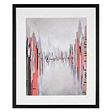 Buy Gregory Lang - Metropolitan Afternoon Red Framed Print, 59 x 49cm Online at johnlewis.com