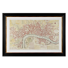 Buy Anonymous - London Map Framed Print, 74 x 108cm Online at johnlewis.com