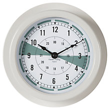 Buy Garden Trading Cromarty Outdoor Clock, Dia.22cm, Chalk Online at johnlewis.com
