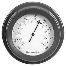 Buy Garden Trading Thermometer, Dia.12.5cm, Charcoal Online at johnlewis.com
