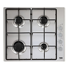 Buy Beko HIZG64120S Gas Hob Online at johnlewis.com