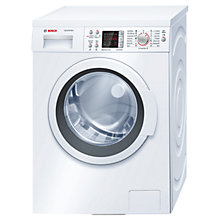 Buy Bosch WAQ284S0GB Washing Machine, 8kg Load, A+++ Energy Rating, 1400rpm Spin, White Online at johnlewis.com