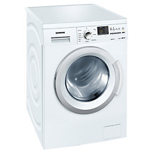 Buy Siemens WM12Q391GB Freestanding Washing Machine, 8kg Load, A+++ Energy Rating, 1200rpm Spin, White Online at johnlewis.com