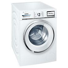 Buy Siemens WM14Y891GB iDos Washing Machine, 8kg load, A+++ Energy Rating, 1400rpm Spin, White Online at johnlewis.com