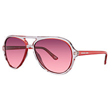 Buy Michael Kors ML2811S Contrast Frame Sunglasses, Red Online at johnlewis.com