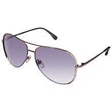 Buy Michael Kors Ml2062S Aviator Sunglasses, Gunmetal Online at johnlewis.com
