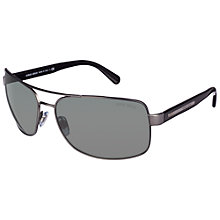 Buy Giorgio Armani Rectangular Pilot Metal Frame Sunglasses Online at johnlewis.com