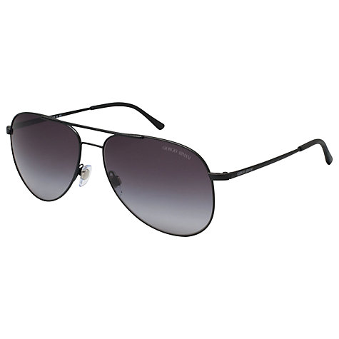 Buy Giorgio Armani AR6013Q Aviator Sunglasses, Matte Black Online at johnlewis.com
