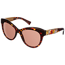 Buy Dolce & Gabanna Round Lens Floral Arm Sunglasses Online at johnlewis.com