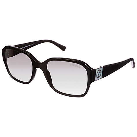 Buy Giorgio Armani 0AR8022H Square Sunglasses, Black Online at johnlewis.com