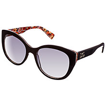 Buy Dolce & Gabanna Cat's Eye Floral Trim Sunglasses Online at johnlewis.com