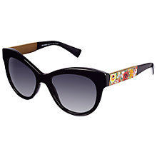 Buy Dolce & Gabbana DG4215 Round Lens Floral Arm Sunglasses Online at johnlewis.com