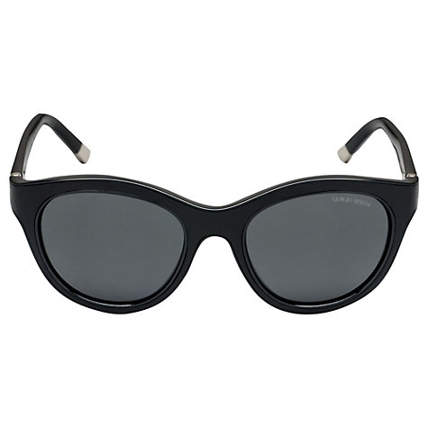 Buy Giorgio Armani AR8032Q Cat's Eye Sunglasses, Black Leather Online at johnlewis.com