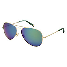 Buy Michael Kors Ml2066s Dylan Aviator Sunglasses, Green Online at johnlewis.com
