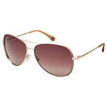 Buy Michael Kors M2062S Sadie Crystal Aviator Sunglasses, Rose Gold Online at johnlewis.com