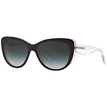Buy Dolce & Gabanna 0DG4221 Cat's Eye Sunglasses, Black / Crystal Online at johnlewis.com
