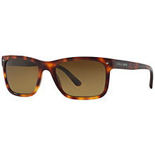 Buy Giorgio Armani 0AR8028 Rectangular Sunglasses, Havana Online at johnlewis.com