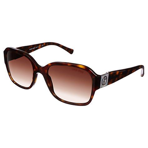 Buy Giorgio Armani 0AR8022H Square Sunglasses, Havana Online at johnlewis.com