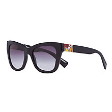 Buy Dolce & Gabbana DG4214 Cat's Eye Sunglasses, Black Online at johnlewis.com