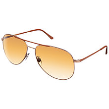 Buy Giorgio Armani 0AR6013Q 30042I Aviator Steel Sunglasses, Matte Bronze Online at johnlewis.com