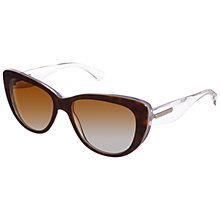 Buy Dolce & Gabanna 0DG4221 2795T5 Cat's Eye Lens Clear Arm Sunglasses, Havana Online at johnlewis.com