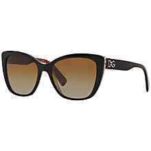 Buy Dolce & Gabbana DG4216 Butterfly Lens Floral Arm Sunglasses Online at johnlewis.com