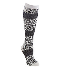 Buy John Lewis Animal Print Knee High Socks, Grey Online at johnlewis.com