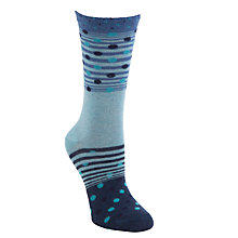 Buy John Lewis Gradual Stripe Ankle Socks, Blue Online at johnlewis.com