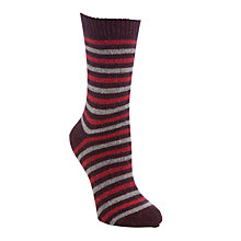 Buy John Lewis Wool Silk Stripe Ankle Socks Online at johnlewis.com