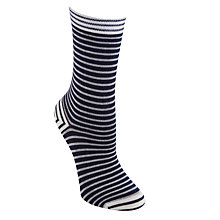 Buy John Lewis Nautucal Stripe Ankle Socks, Navy Online at johnlewis.com