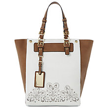 Buy Dune Dropper Lazer Cut Out Shopper Bag, White Online at johnlewis.com