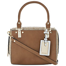 Buy Dune Dickley Boxy Grab Handbag, Tan Online at johnlewis.com