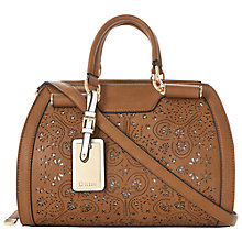 Buy Dune Dayzer Laser Cut Barrel Bag, Tan Online at johnlewis.com