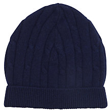 Buy John Lewis Made in Italy Cashmere Beanie, Navy Online at johnlewis.com