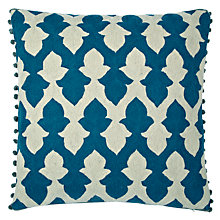 Buy Niki Jones Lattice Cushion, Teal Online at johnlewis.com