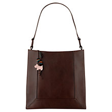 Buy Radley Border Medium Leather Shoulder Bag, Brown Online at johnlewis.com