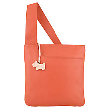 Buy Radley Pocket Small Leather Across Body Handbag, Pink Online at johnlewis.com