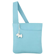 Buy Radley Pocket Small Leather Across Body Handbag, Blue Online at johnlewis.com